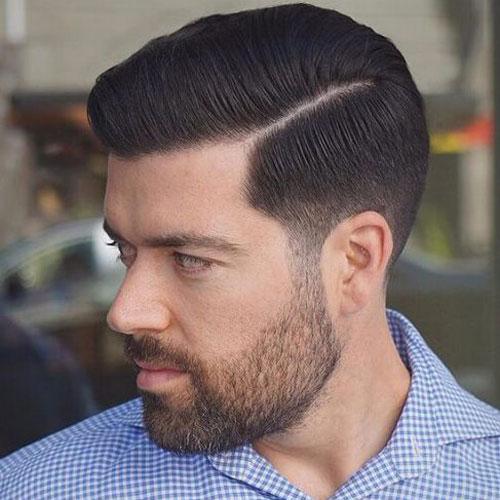 fryzury męskie side part