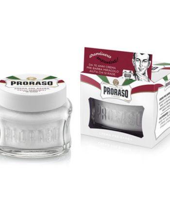 proraso white pre shave cream